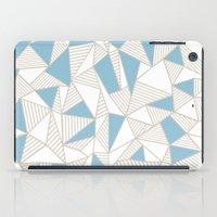 Ab Nude Lines with Blue Blocks iPad Case
