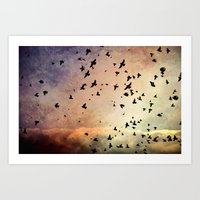The Flock Art Print