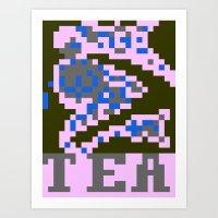 Rusalka Tea Art Print