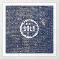 Blue Denim Jeans Texture… Art Print
