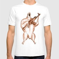 Oven Ready Warrior Mens Fitted Tee White SMALL