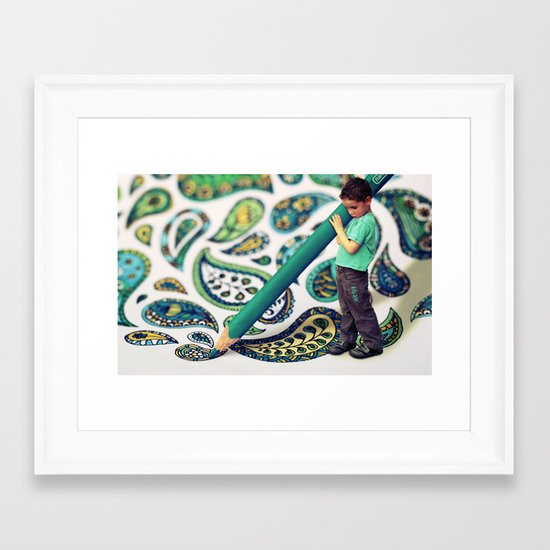 Adding the Finishing Touches ...  Framed Art Print