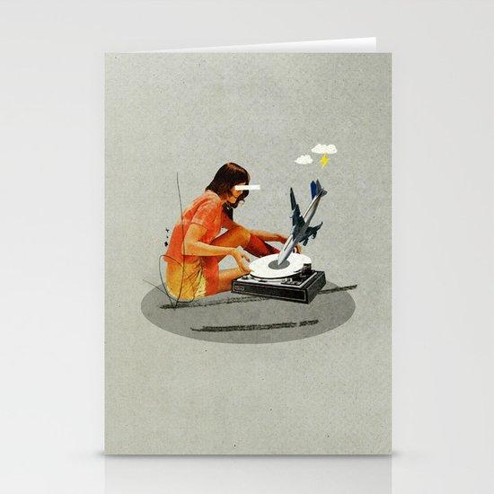 Blind, deaf too | Collage Stationery Card