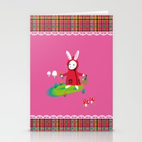 Little Red Riding Rabbit Stationery Cards