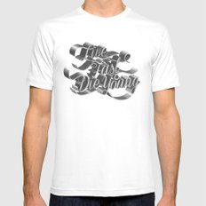 Live Fast Die Young - Black and White White Mens Fitted Tee SMALL