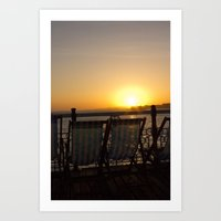Sunset from Brighton Pier Art Print