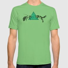 Headlock, wasp and fox Mens Fitted Tee Grass SMALL