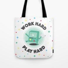 Work Hard, Play BMO Tote Bag