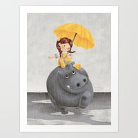 And It Poured Art Print