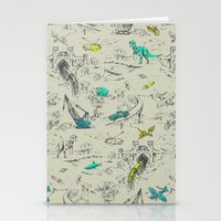 Adventure Toile  Stationery Cards