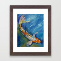 Yamato Nishiki Koi Framed Art Print