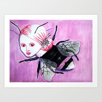 Bee Linda Art Print