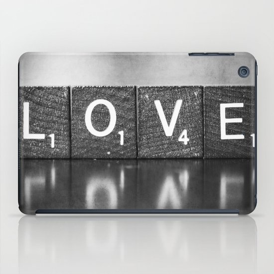 Love is a Beautiful Word - a fine art photograph iPad Case