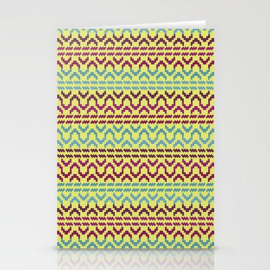 AZTEC Pattern 1-2 Stationery Card