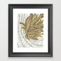 Sea Anemone Framed Art Print
