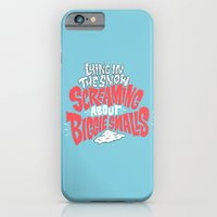 iPhone & iPod Case featuring Lying in the snow screaming... by Chris Piascik