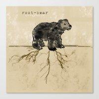 ROOT-BEAR Canvas Print