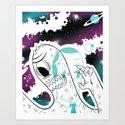 Space Beat 2 Art Print