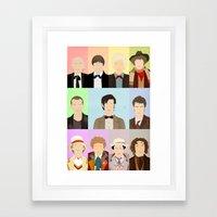 Call me... the Doctor. Framed Art Print