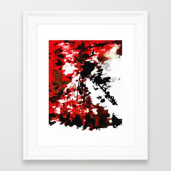 RED CHANEL BY Cd KIRVEN Framed Art Print