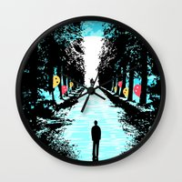 Lonely Walk Wall Clock