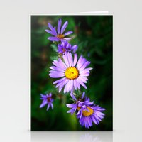 Purple Floral Stationery Cards