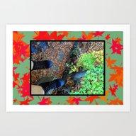 Dangling (fall) Art Print