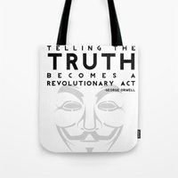 Truth Revolution - V For… Tote Bag