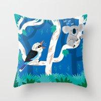 The Koala and the Kookaburra (version 2) Throw Pillow