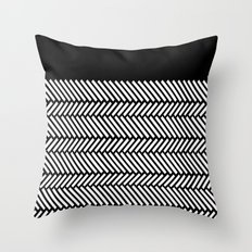 Herringbone Boarder Throw Pillow