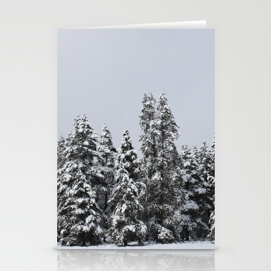 White Forest Stationery Card