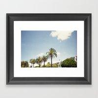 Palm Street Framed Art Print