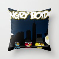 Angry Boids Throw Pillow