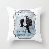 A Beautiful Nightmare Throw Pillow