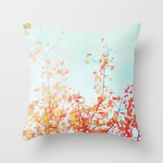 The Red and Yellow Tree Throw Pillow