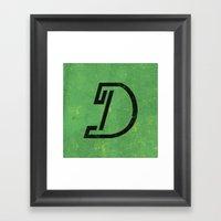 Letter D - Letter A Day … Framed Art Print
