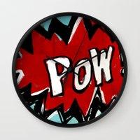 Comic Book: Pow! Wall Clock