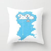 Young Clouds Fooling Aro… Throw Pillow