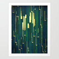 Night in the swamps Art Print