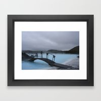 Iced Blue Framed Art Print