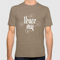 peace out Mens Fitted Tee Tri-Coffee SMALL
