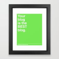 Best Blog Framed Art Print