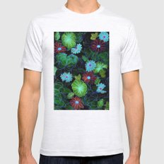 Oriental blossom (night version) Mens Fitted Tee Ash Grey SMALL