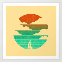 Go West (sail away in my boat) Art Print