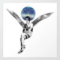DAVID BOWIE ANGEL Art Print