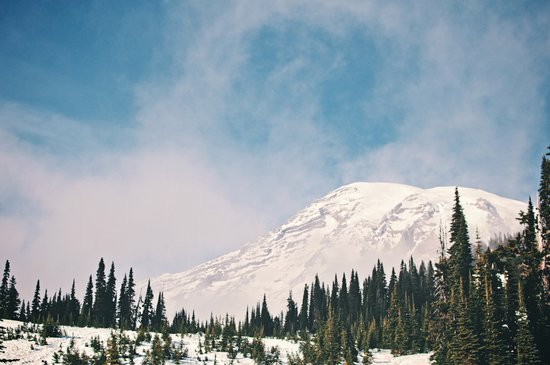 Mount Rainier in the Winter Art Print