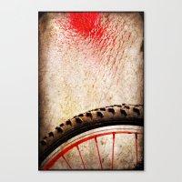 Bike Wheel:: Red Spray Canvas Print