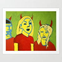 THE DEVILS Art Print