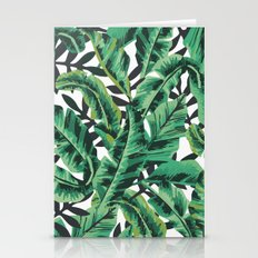 Tropical Glam Banana Leaf Print Stationery Cards