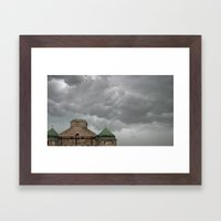Church Remains In A Stor… Framed Art Print